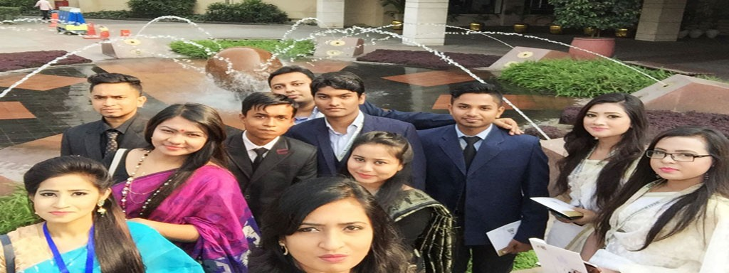 A Group of Students of DBI College attended the Mega Event Organized by DCCI at Radisson Water Garden Hotel Dhaka.
