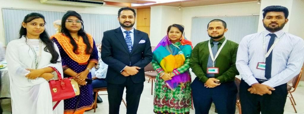 Students with VP Sir and Principal Madam at SDG Seminar organized by DCCI