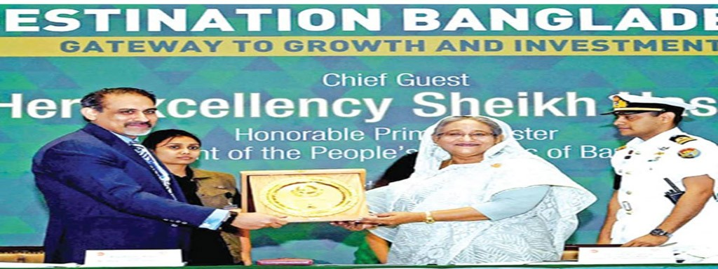 Prime Minister Sheikh Hasina was the Chief Guest of 60 Years Celebration of DCCI